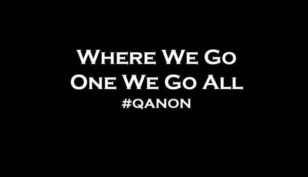 Aufkleber Where we go one we go all  #QANON